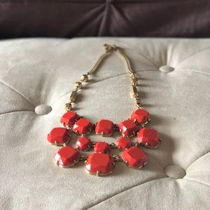 Stella & Dot Olivia Bib Statement Necklace, Orange